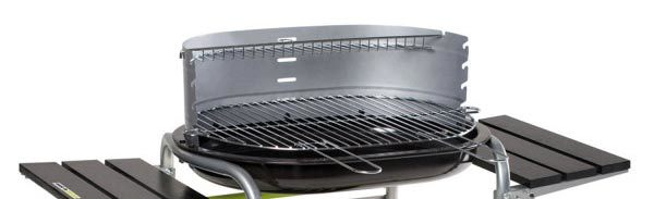 Barbecue charbon Classy cuve acier 55 x 38 cm Cookin garden