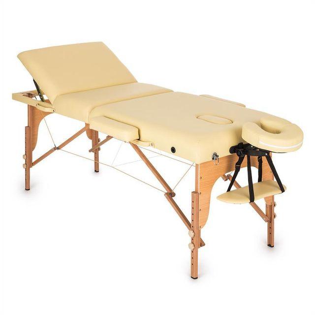klarfit mt 500 table de massage pliante 210 cm 200 kg mousse fine beige pas cher achat. Black Bedroom Furniture Sets. Home Design Ideas