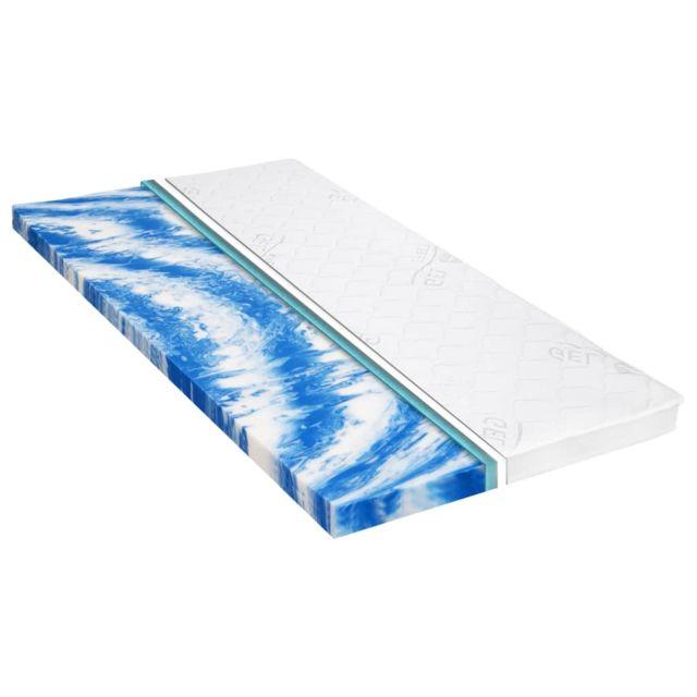 Stylé Protèges-matelas ligne Ankara Sur-matelas 140 x 200 cm Mousse de gel 7 cm
