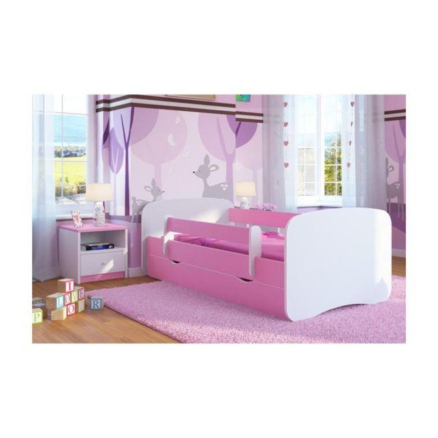 carellia lit enfant 70 cm x 140 cm avec barriere de. Black Bedroom Furniture Sets. Home Design Ideas