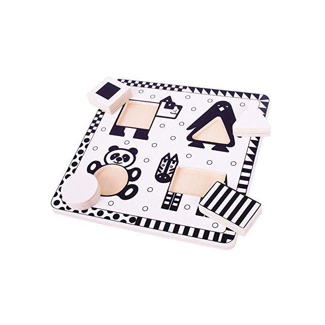 Bigjigs Toys Bj514 Animals Black and White Puzzle