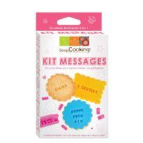 Scrapcooking - Kit messages pour biscuit à tamponner