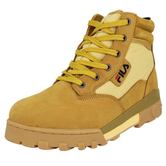 80d0a7d5598d1 Fila - Grunge Mid Chaussures Bottines Homme Cuir Suede Marron - pas cher  Achat   Vente Boots homme - RueDuCommerce