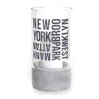 """Paris Prix - Photophore en Verre """"New York"""" 20 cm Transparent"""