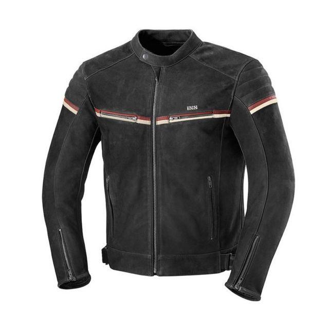 Ixs - blouson moto Flagstaff cuir nubuck homme vintage mi-saison été ... be0fb0bb6976