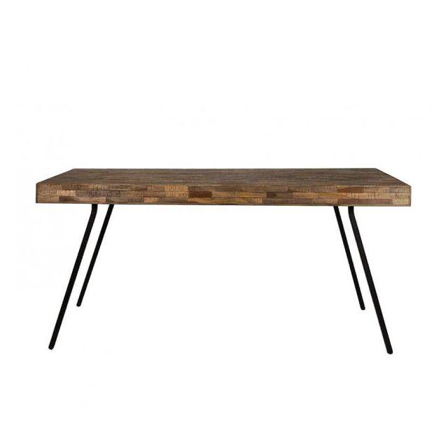 Mathi Design Havane - Table repas bois et acier
