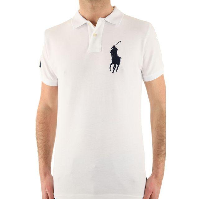 Ralph Lauren Polo Big Pony Couleur Blanc, Taille L