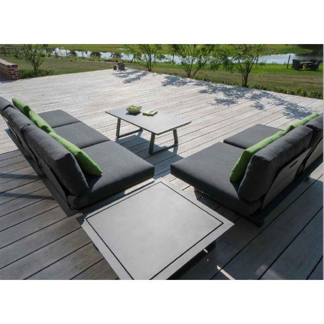 Gecko Jardin - Salon de jardin 5 places en aluminium Ikaria ...