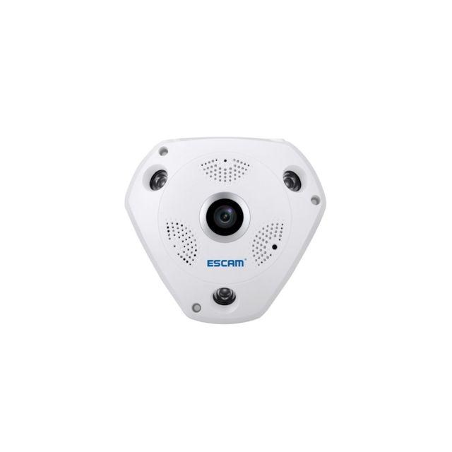 Auto-hightech Caméra Ip wifi 1.3MP objectif fisheye 360 Degrés, prise en charge de la détection de Mouvement et la Vision Nocturne, Di