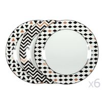assiettes porcelaine achat assiettes porcelaine pas cher. Black Bedroom Furniture Sets. Home Design Ideas