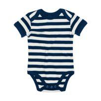 Babybugz - body bébé jambes manches courtes - Bz10S - rayé rouge et ... fbbb6c68a6e