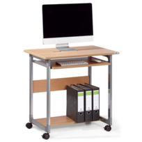 Durable - Bureau informatique à roulettes - 2 tablettes - System 75 Fh - hêtre