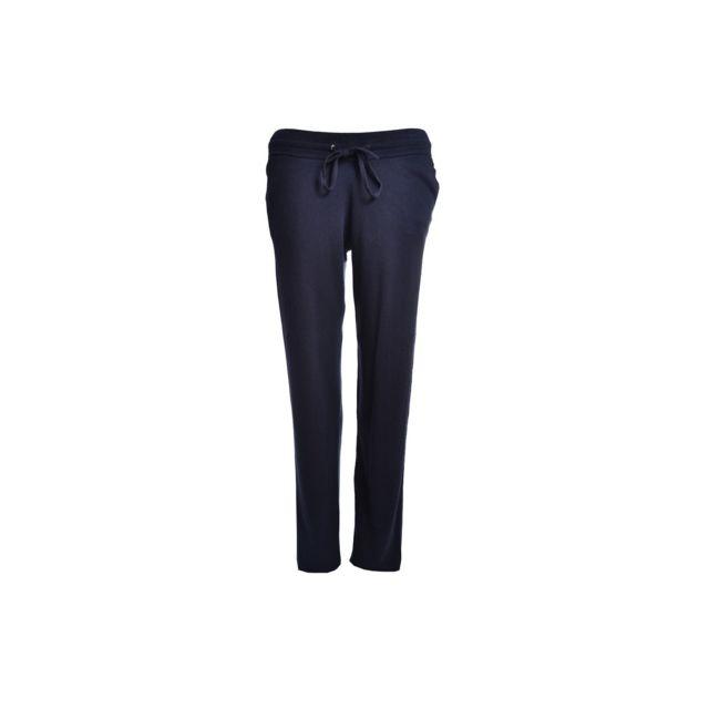 b3cf30573d9c7 Pantalon de survet bleu marine Trudy pour femme