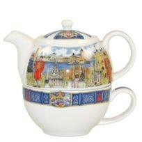 Churchill China - James Sadler Théière et tasse ``Thameside`` Import Grande Bretagne