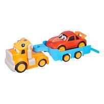 SPEEDTRACK - Camion porte voitures avec son et lumière - 60 cm - TY021921