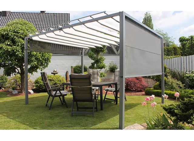 excellent gallery of finest leco pergola lames orientables avec stores latraux lamella with. Black Bedroom Furniture Sets. Home Design Ideas