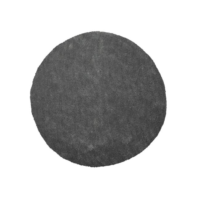 BELIANI Tapis rond en tissu gris foncé DEMRE - gris foncé