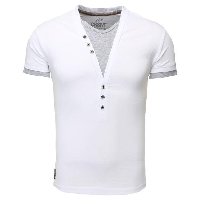 T shirt fashion pour homme T shirt 202 blanc