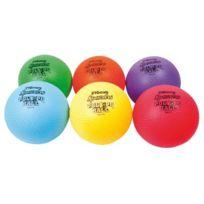 Spordas - ballons tous sports grainés 21cm assortis - lot de 6