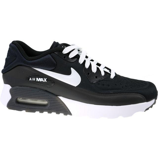 wholesale dealer a4929 972fb Nike - Air Max 90 Ultra Gs 844599-001 Blanc - pas cher Achat   Vente Baskets  enfant - RueDuCommerce
