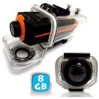 Yonis - Caméra sport embarquée étanche écran Pro Hd 1080P Grand angle 8 Go