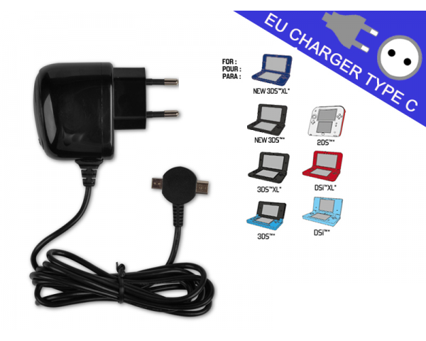 subsonic chargeur double dual home charger new 3ds new 3ds xl pas cher achat vente. Black Bedroom Furniture Sets. Home Design Ideas
