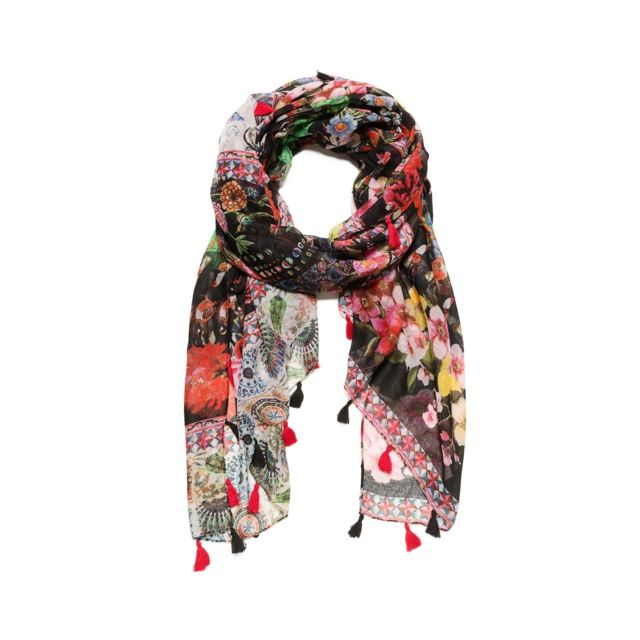 new images of sleek special for shoe Foulard Femme Micro Raport Rouge 18WAWW47