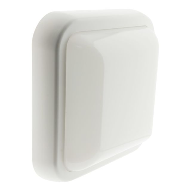 Blanc IP44 Hublot carré LED 5.5W 450 lm