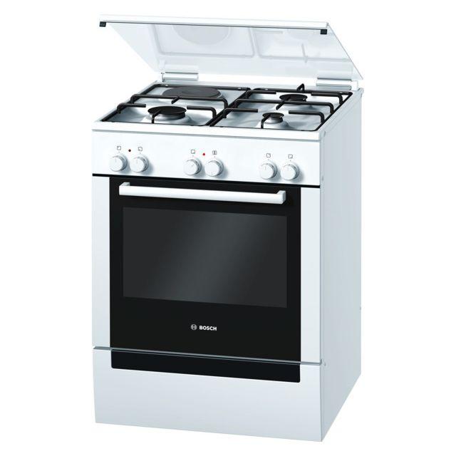 Bosch cuisinière mixte a 67l 4 feux blanc - hgv72d124f