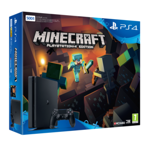 sony pack ps4 500 go noire minecraft ps4 t l charger. Black Bedroom Furniture Sets. Home Design Ideas