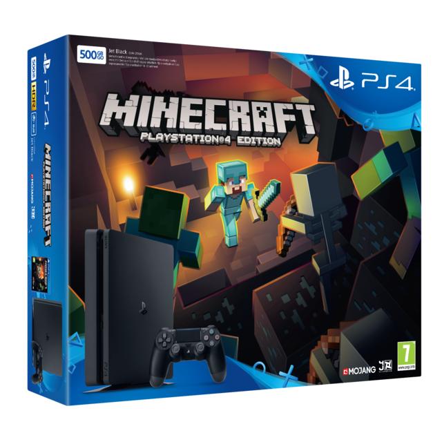 SONY Pack PS4 500 Go Noire+ Minecraft PS4 à télécharger