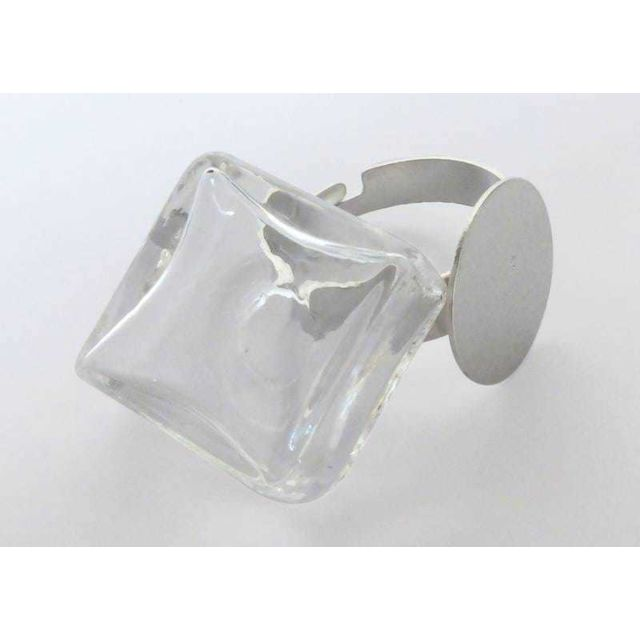 Graine créative Bague globe en verre Demi-globe
