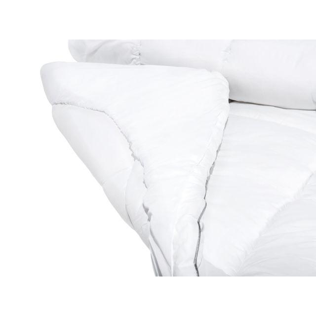 BELIANI Surmatelas en coton 180 x 200 cm TRIVOR - blanc