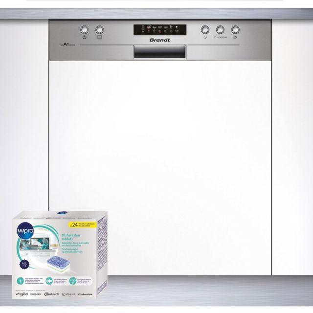 Brandt Lave-vaisselle Integrable encastrable bandeau inox 47dB A+ 12 couverts 60cm Départ Différé