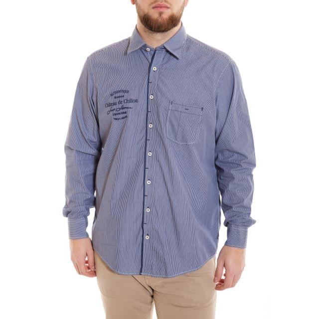 &TRADITION Chemise bleu à fines rayures