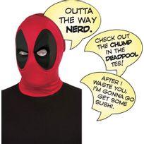 Rubies - Masque Deadpool et bulles de la parole de luxe - Taille : M/L