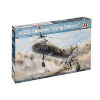 Italeri - Maquette avion militaire : H-21C Shawnee - Banane Volante
