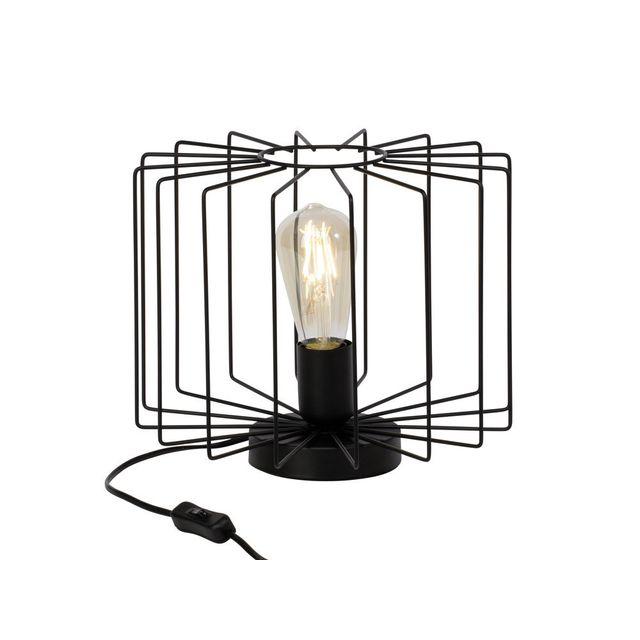 Brilliant - Lampe à poser en métal filaire noir hauteur 24cm Onelia 0cm x 0cm x 0cm