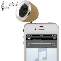 Yonis - Mini enceinte portable jack 3.5 Mp3 Smartphone Tablette Or