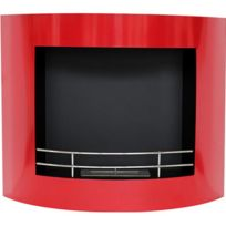 Privatefloor - Cheminée bio éthanol murale contemporaine rouge Vpf-fd60-RED Rouge