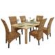 Rocambolesk superbe set de 6 chaises en abaca brun rotin - Set de cuisine en rotin ...