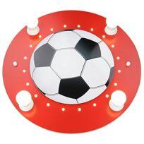 Elobra-Leuchten - Applique Murale/PLAFOND Motif Ballon De Foot Rouge/BLANC