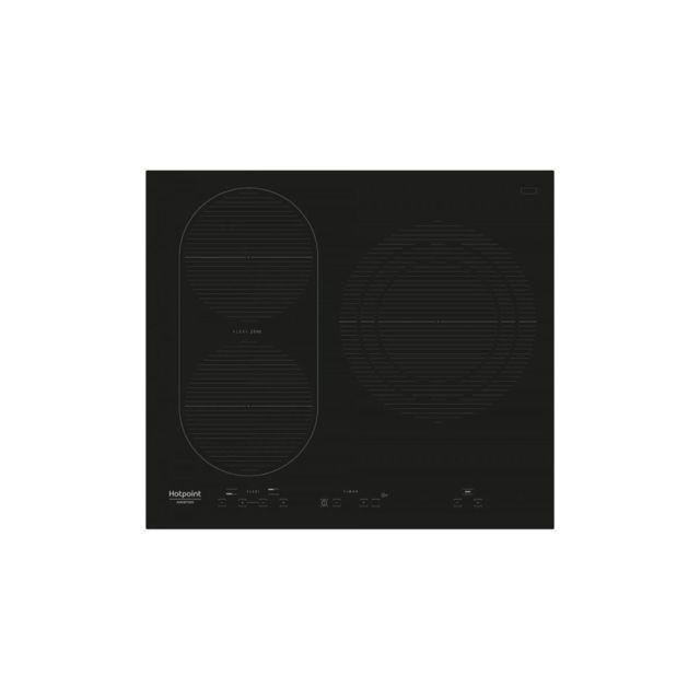 Hotpoint Ikid631bltf-table De Cuisson Induction-3 Zones-7200 W-l58 X P51 Cm-revetement Verre-noir