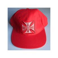 Universel - Casquette west coast choppers rouge logo croix malte centre