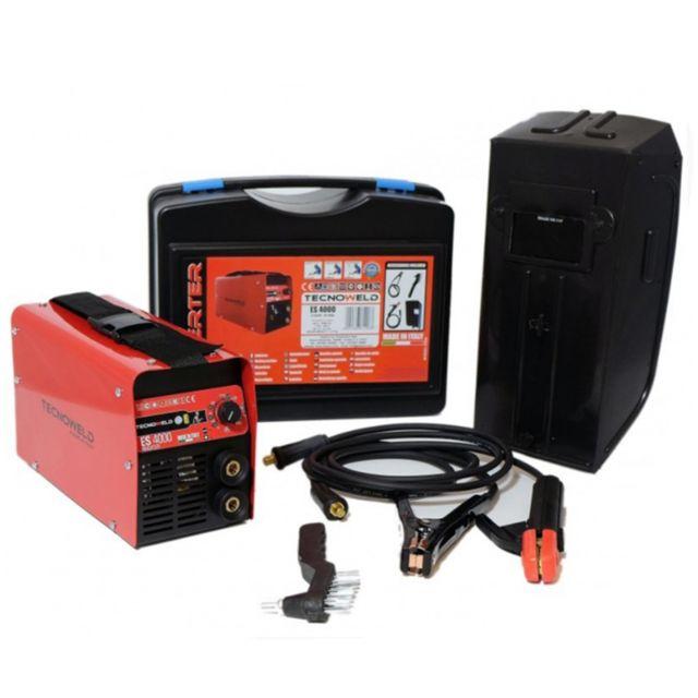 Poste /à souder Inverter 200 Amp/ères TECNOWELD Electrodes soudure 1.6 /à 5 mm Acier Inox Fonte Malette Accessoires