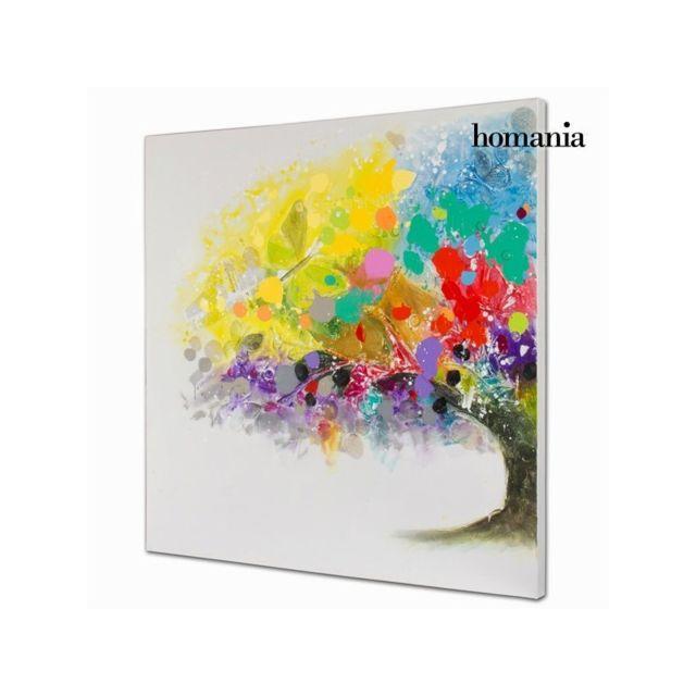 Homania Peinture à Lhuile Arbres En Couleur By Pas Cher Achat