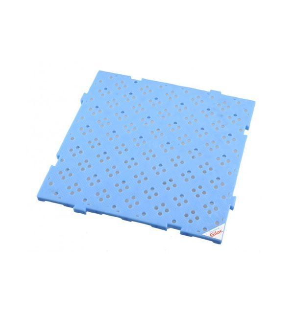 Gilac Caillebotis 50 x 50 cm ÉPAISSEUR 22 mm Bleu