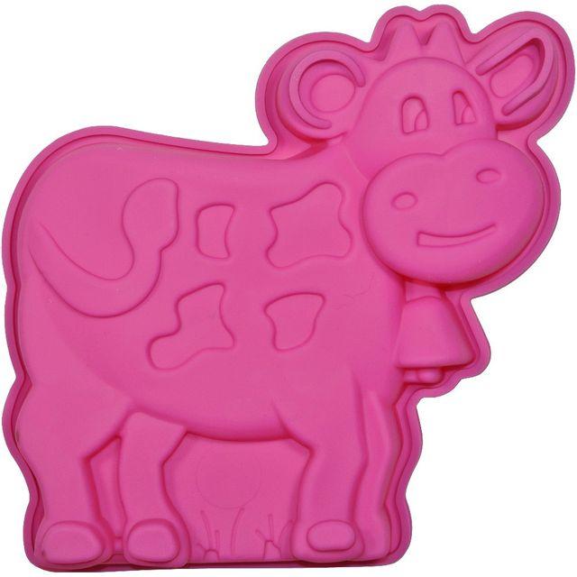 Promobo Moule à Gateau en silicone Vache Forme Ludique Animal Rose