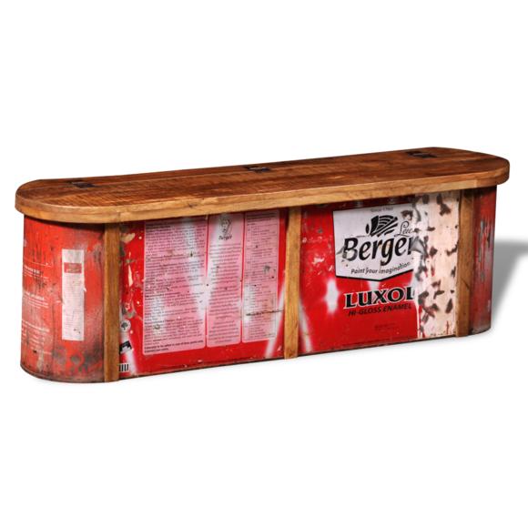 Rocambolesk - Superbe Banc / buffet de stockage en bois solide recyclé Neuf