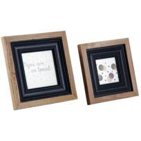 AUBRY GASPARD - Cadre photo en bois et verre Lot de 2